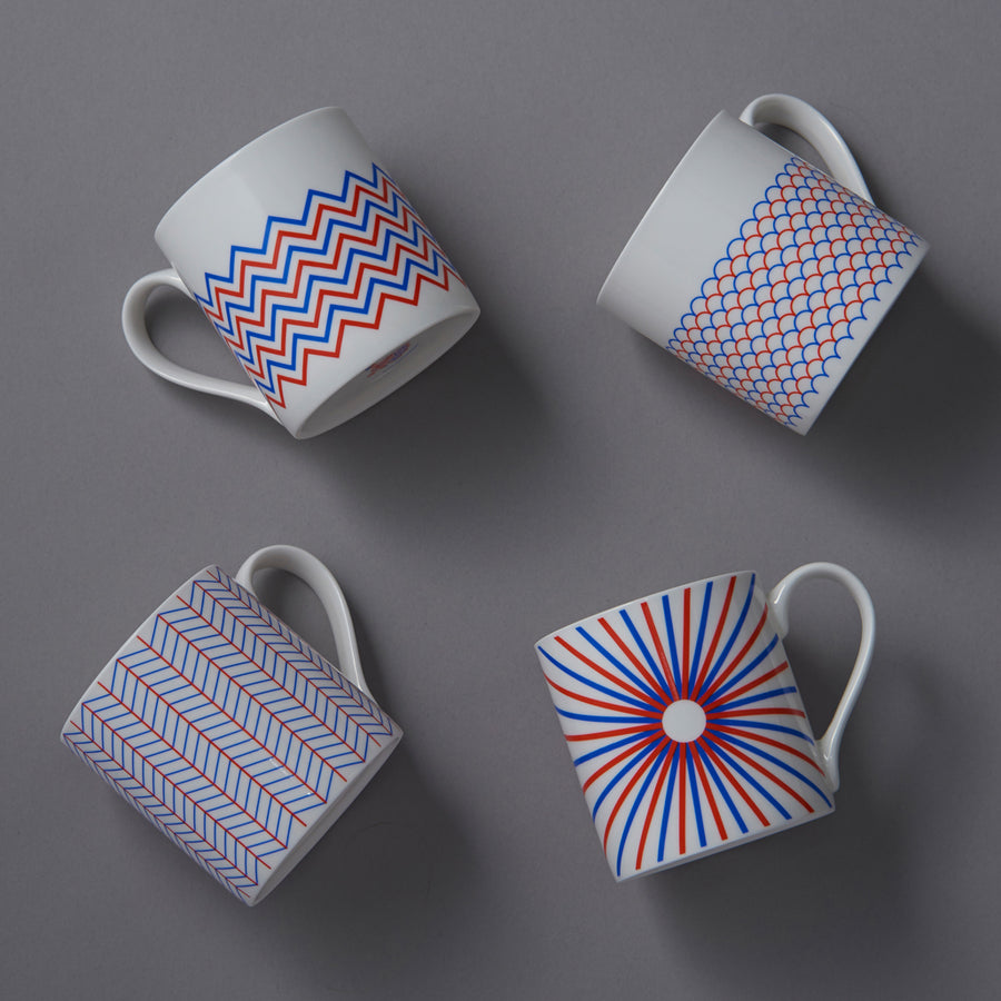 Ripple Mug in Orange & Blue