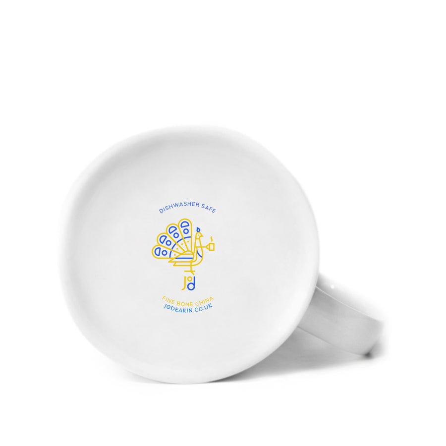 Wave Mug in Yellow & Blue