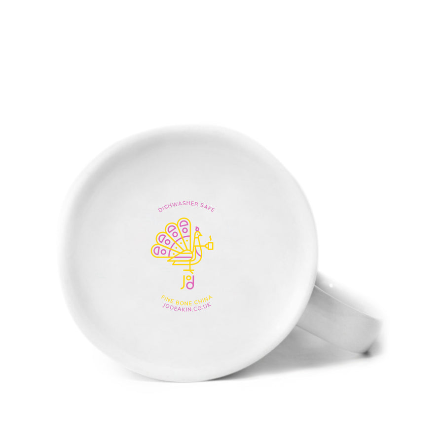 Wave Mug in Pink & Yellow