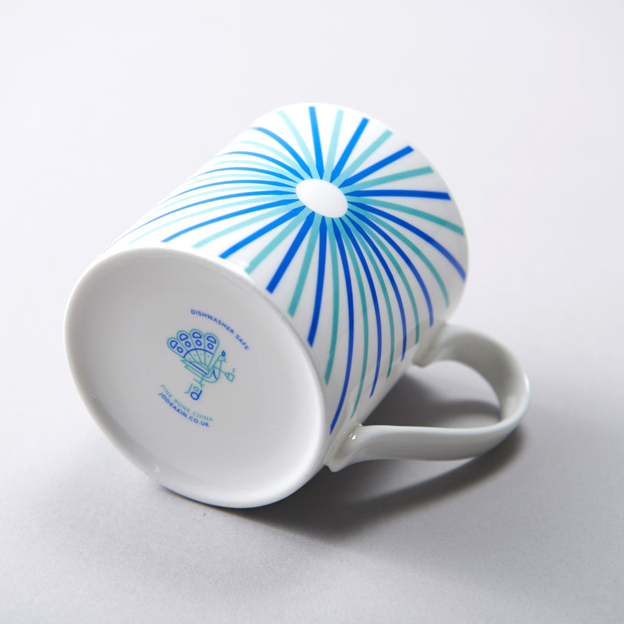 Burst Mug in Blue & Turquoise