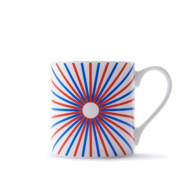 Burst Mug in Orange & Blue