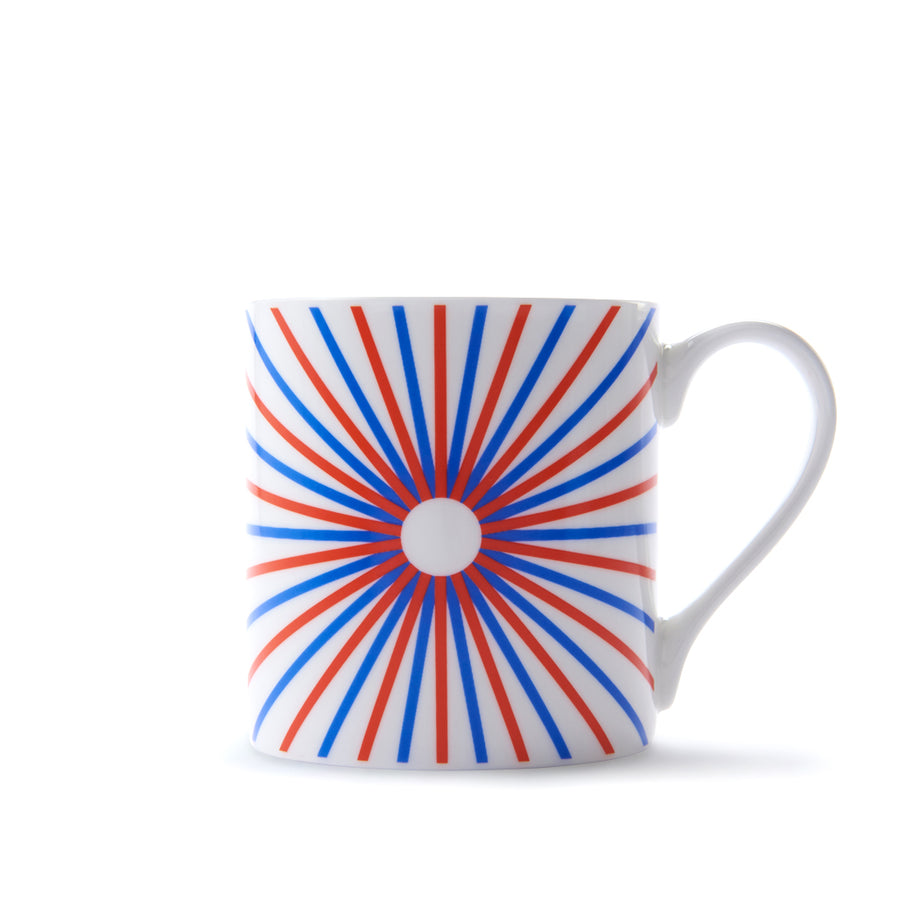 Burst Mug in Red & Blue