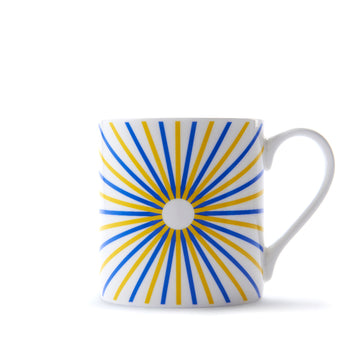 Burst Mug in Yellow & Blue