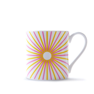 Burst Mug in Pink & Yellow