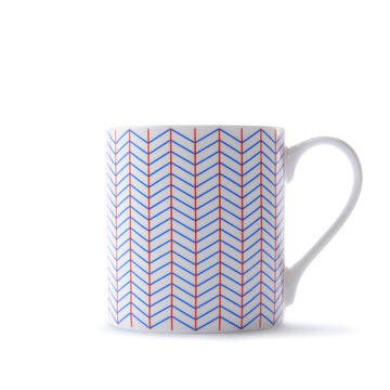 Ebb Mug in Orange & Blue