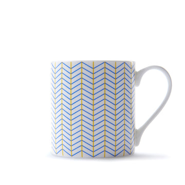 Ebb Mug in Yellow & Blue