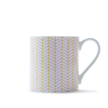 Ebb Mug in Pink & Yellow