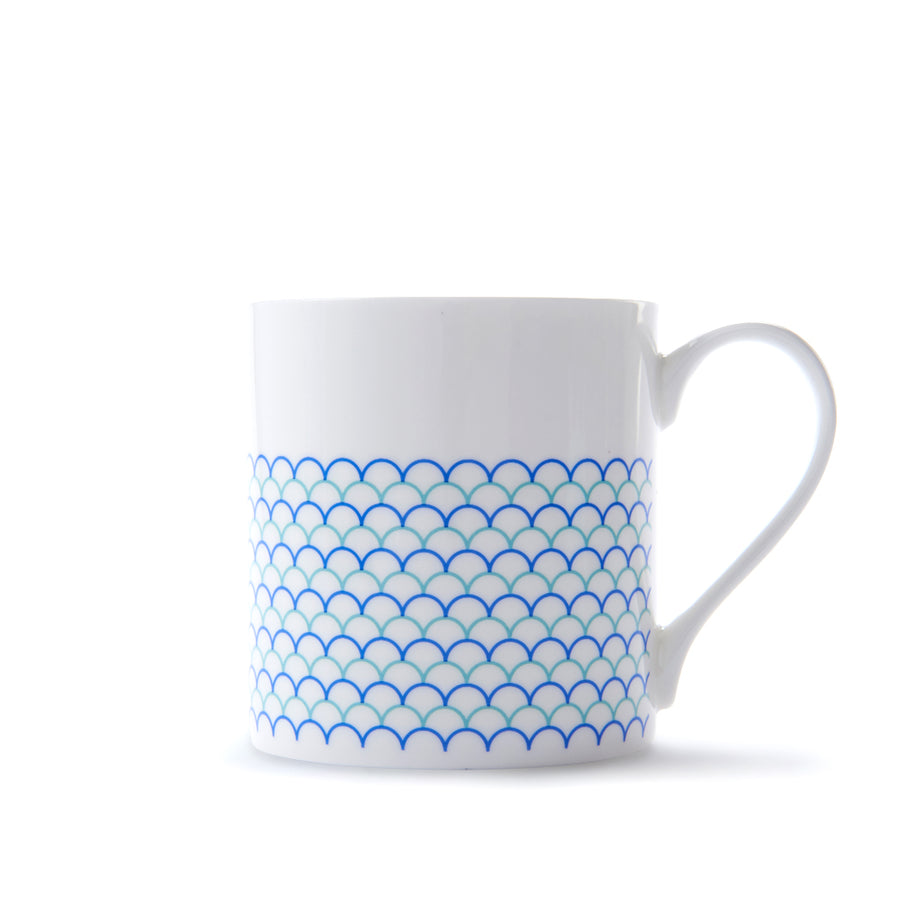 Ripple Mug in Blue & Turquoise