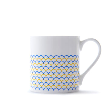 Ripple Mug in Yellow & Blue