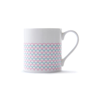 Ripple Mug in in Pink & Turquoise