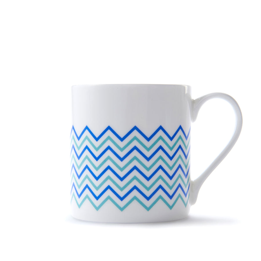 Wave Mug in Blue & Turquoise