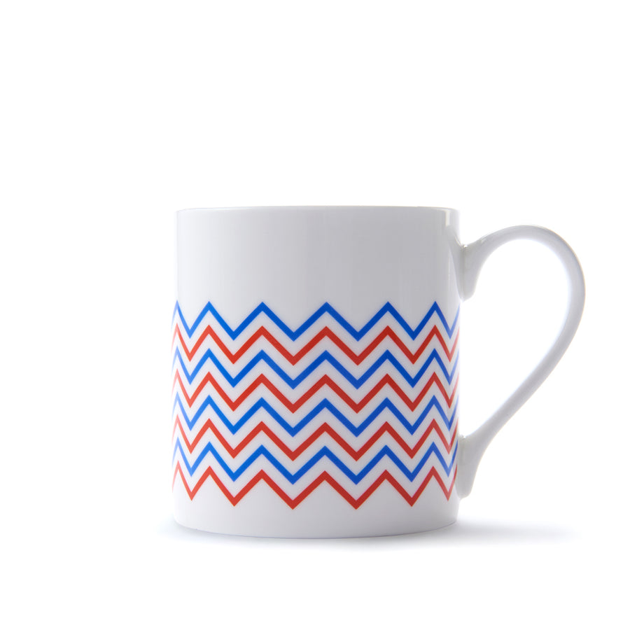 Wave Mug in Orange & Blue