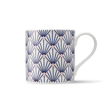 Zighy Mug in Blue & Blush Pink