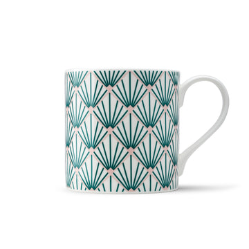 Zighy Mug in Teal & Blush Pink
