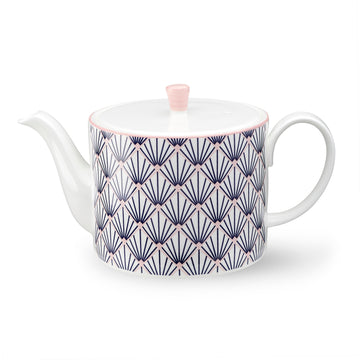Zighy Teapot in Blue & Blush Pink