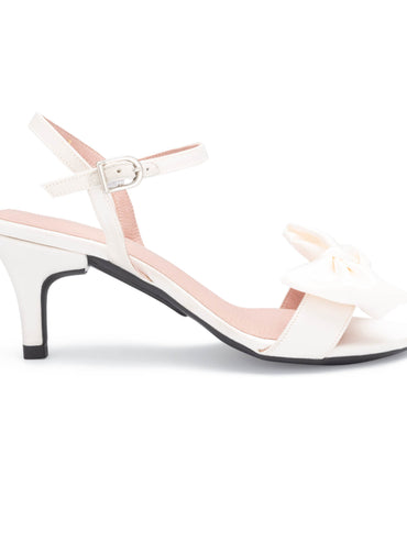 Stiletto 7cm - White Satin
