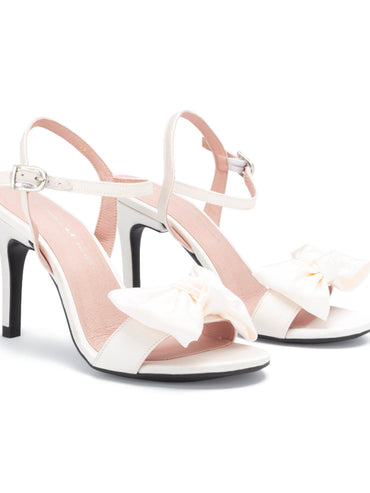 Stiletto 10cm - White Satin