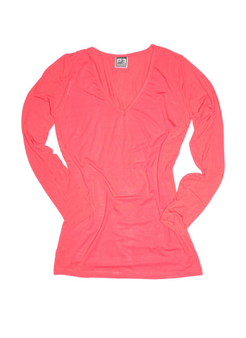 Stretch Bamboo Women's Long Sleeve V-Neck
