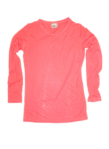 Stretch Bamboo Women's Long Sleeve Crew Neck