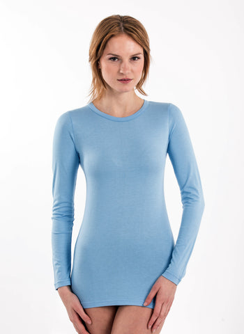 70% Bamboo Women's Long Sleeve Crew Neck