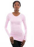100% Bamboo Women's Long Sleeve Crew Neck