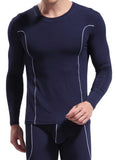 Men's Bamboo Long Underwear. Crew Neck.