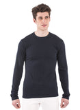70% bamboo / 30% organic cotton navy blue dark midnight blue long sleeve longsleeve mens crew neck