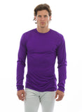 mens purple long sleeve bamboo shirt 100% bamboo