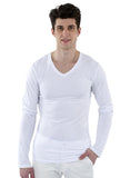 70% Bamboo Men's Long Sleeve Deep V-Neck