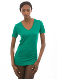 emerald green bamboo v neck womens shirt