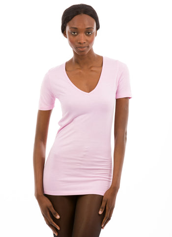 100% Bamboo Women's Short Sleeve V-Neck (SALE)