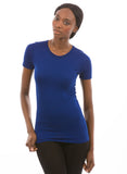 100% Bamboo Women's Short Sleeve Crew Neck