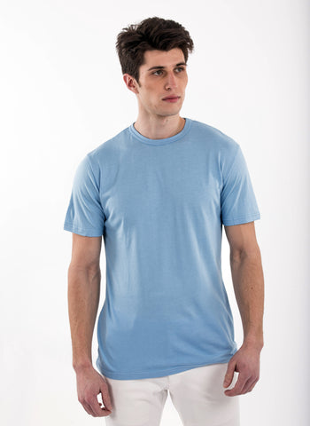 70% Bamboo Mens Short Sleeve Crew Neck