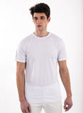 70% Bamboo white pure optic white 30% organic cotton shirt short sleeve perfect undershirt tag less