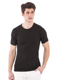 BLACK 100% Bamboo crew Neck for Men