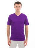 purple mens short sleeve vneck tshirt amethyst
