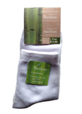 White bamboo socks