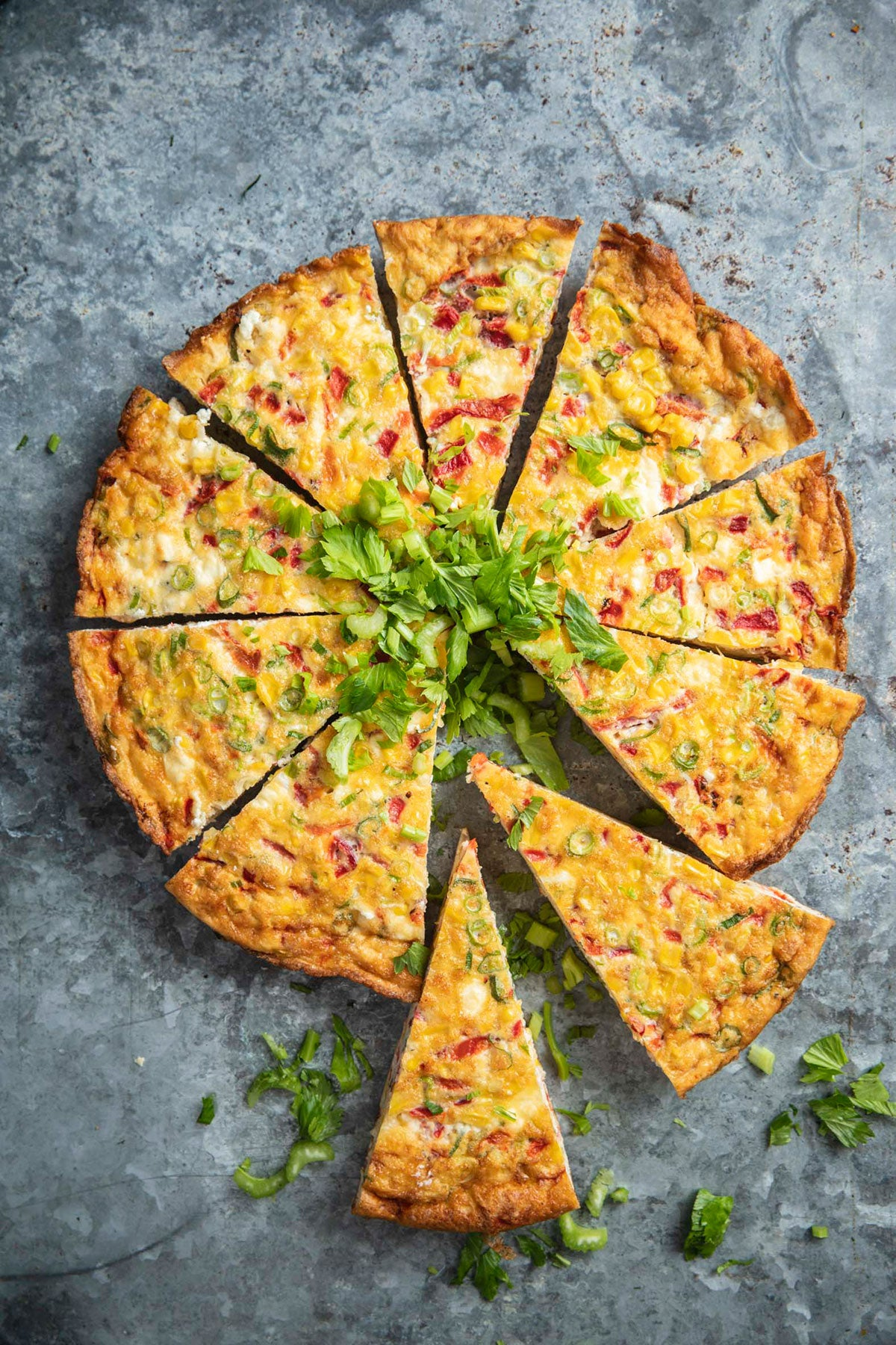 House-made capsicum frittata