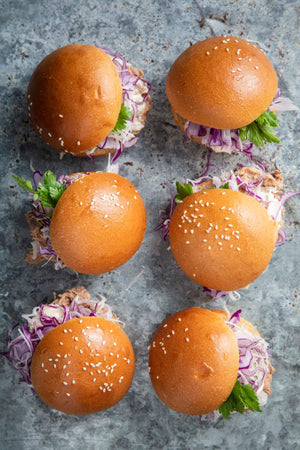 Pulled pork, Asian slaw slider