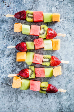 Fresh seasonal fruit skewer