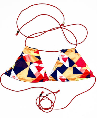 REBELLIOUS TRIANGLE BIKINI TOP