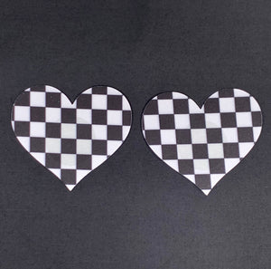 Checkered Heart Pasties