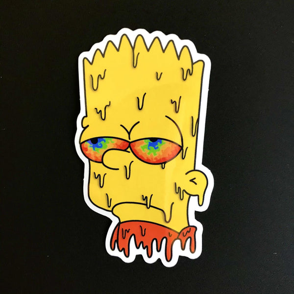 Bart Simpson Drippy Sticker