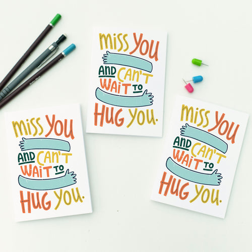 Miss You and Can't Wait to Hug You Card Set