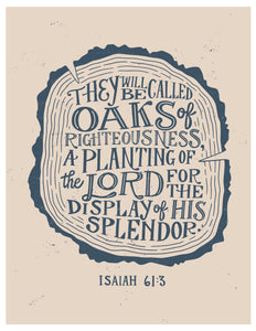 Isaiah 61:3 Oaks of Righteousness