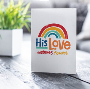 Psalm 118 His Love Endures Forever Card