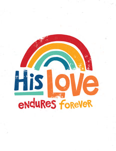 His Love Endures Forever Tote Bag