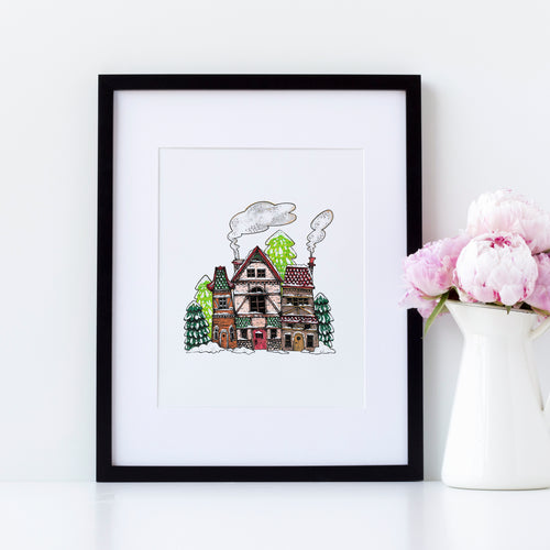 INSTANT DOWNLOAD: Snowy Village