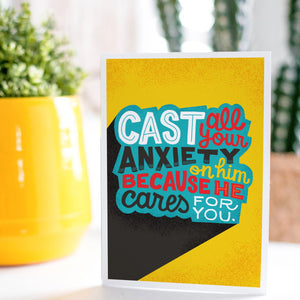 1 Peter 5:7 Cast All Your Anxiety on Him Card