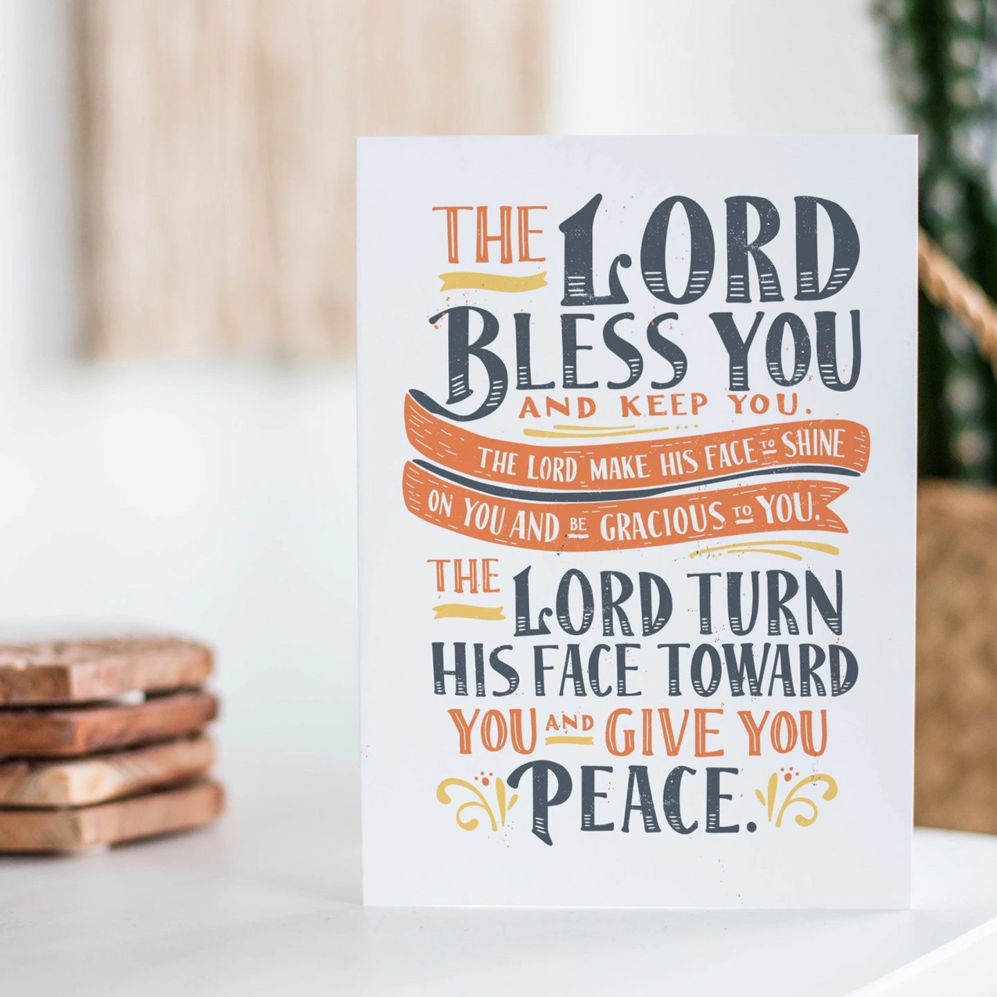 The Lord Bless You and Keep You Card